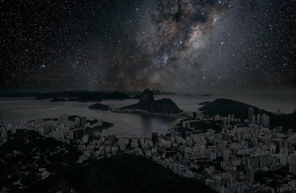 """Thierry Cohen'in Paris, Rio de Janeiro, San Francisco ve Tokyo'ya uyarladığı """"Sönük Şehirler"""" projesi"""
